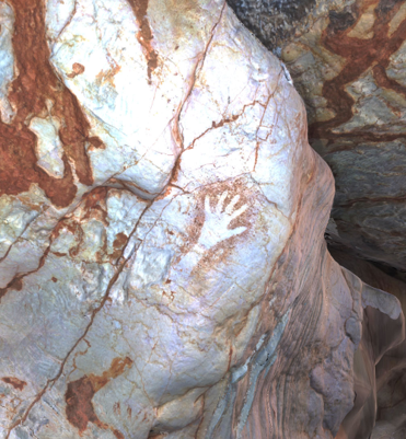 3D main rouge Grotte Cosquer - PERSPECTIVE[S]
